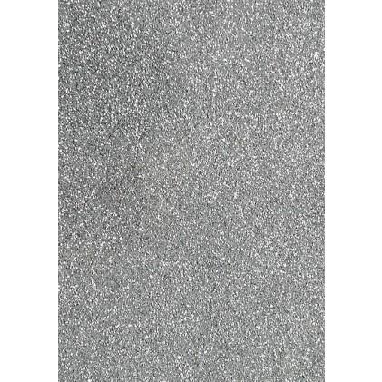 Glitter Cardstock A4 - Silber