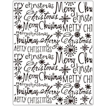 Crafts Too Hintergrund-Prägeschablone GROSS - Merry Christmas