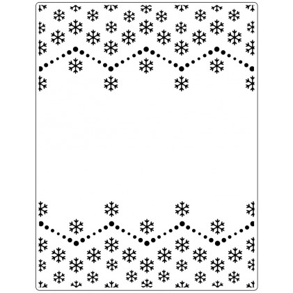 Crafts Too Hintergrund-Prägeschablone EXTRA GROSS - Snowflake