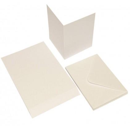Craft UK Cardpack 20 Karten und Umschläge Perl-Weiß A6 / C6