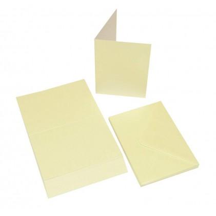 Craft UK Cardpack 20 Karten und Umschläge Perl-Elfenbein - A6 / C6