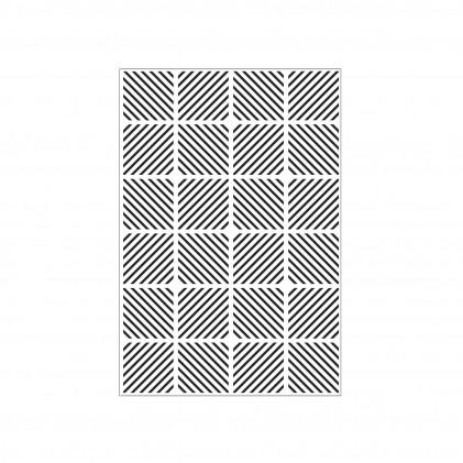 Darice Hintergrund-Prägeschablone - Diagonal Block Pattern