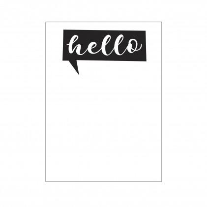 Darice Hintergrund-Prägeschablone - Hello Talk Bubble