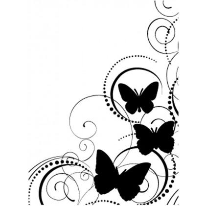 Darice Hintergrund-Prägeschablone - Butterfly