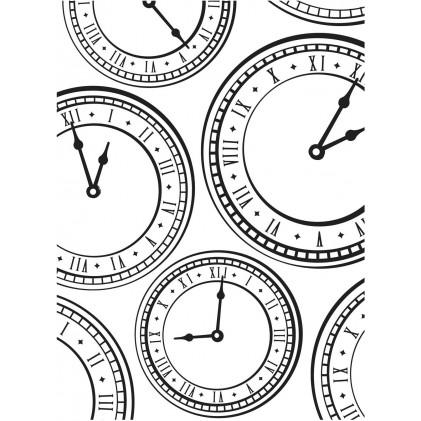 Darice Hintergrund-Prägeschablone - Assorted Clocks