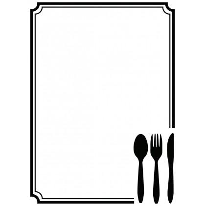 Darice Hintergrund-Prägeschablone - Cutlery in Corner