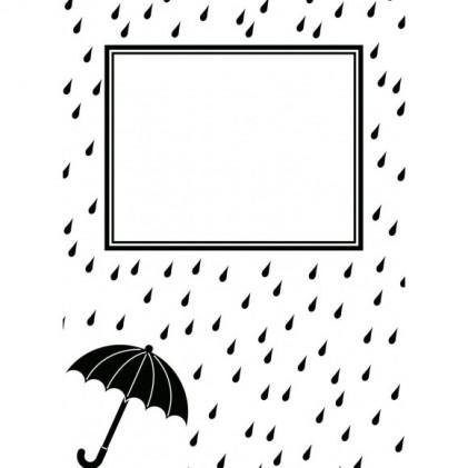 Darice Hintergrund-Prägeschablone - Raindrops And Umbrella