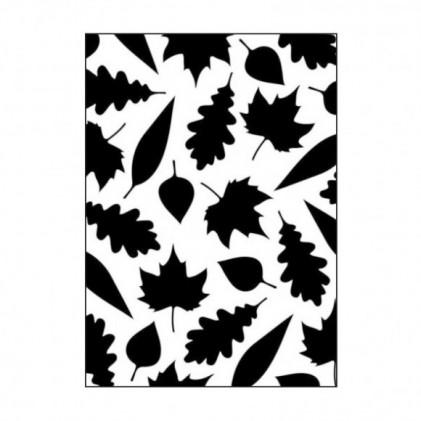 Darice Hintergrund-Prägeschablone - Leaves Assortment