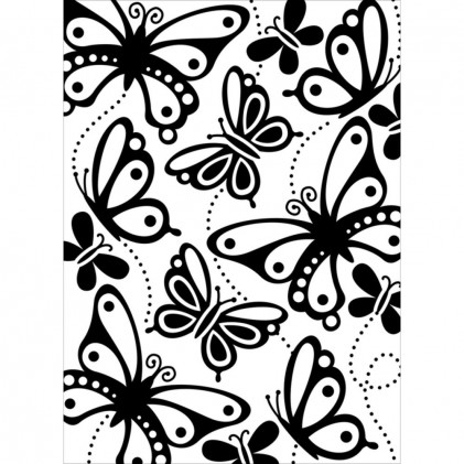 Darice Hintergrund-Prägeschablone - Butterflies