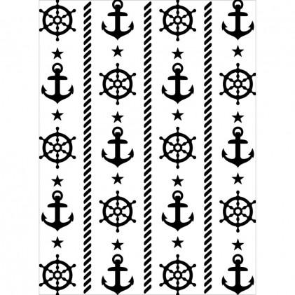 Darice Hintergrund-Prägeschablone - Nautical