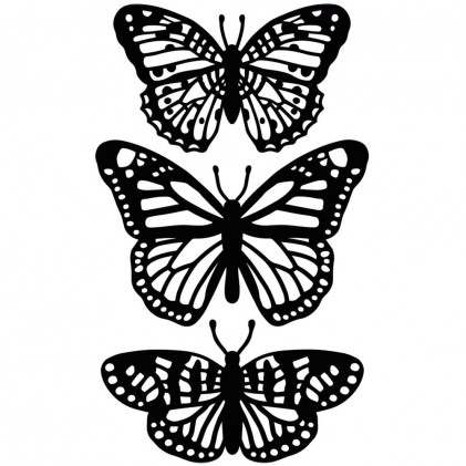 Darice Hintergrund-Prägeschablone - Butterfly Trio