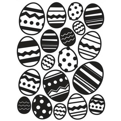 Darice Hintergrund-Prägeschablone - Easter Egg Background