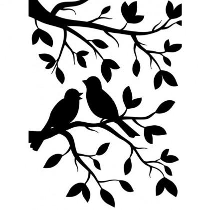 Darice Hintergrund-Prägeschablone - Birds Branch
