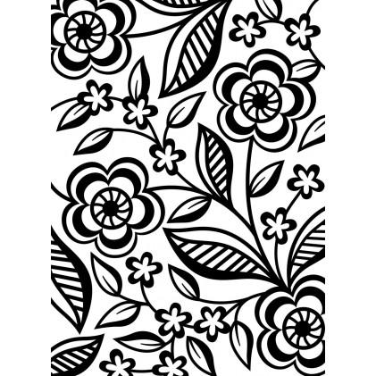 Darice Hintergrund-Prägeschablone - Dainty Flower