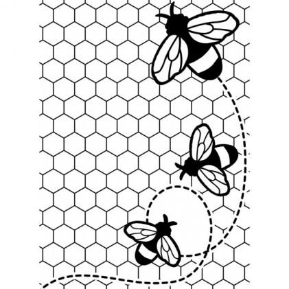 Darice Hintergrund-Prägeschablone - Bees Buzzing