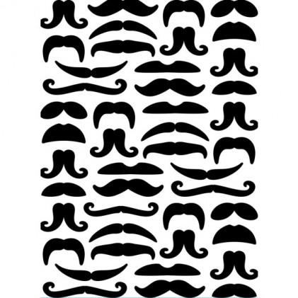 Darice Hintergrund-Prägeschablone - Mustaches - 30% RABATT