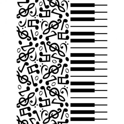 Darice Hintergrund-Prägeschablone - Piano Notes