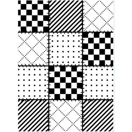 Darice Hintergrund-Prägeschablone - Quilt Blocks