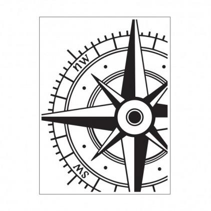 Darice Hintergrund-Prägeschablone - Compass / Windrose
