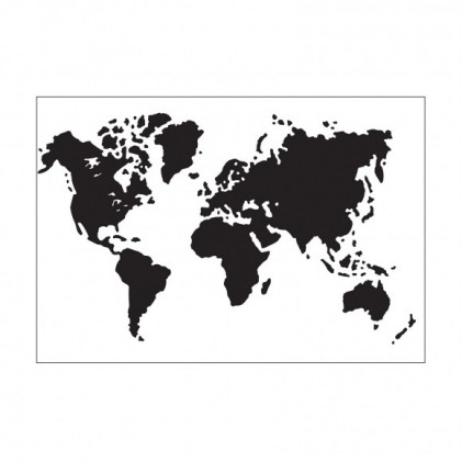 Darice Hintergrund-Prägeschablone - World Map