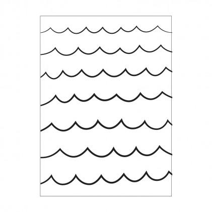 Darice Hintergrund-Prägeschablone - Waves