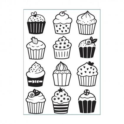 Darice Hintergrund-Prägeschablone - Cupcakes