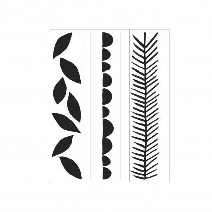 Darice Hintergrund-Prägeschablone - Leaves Circles Evergreen