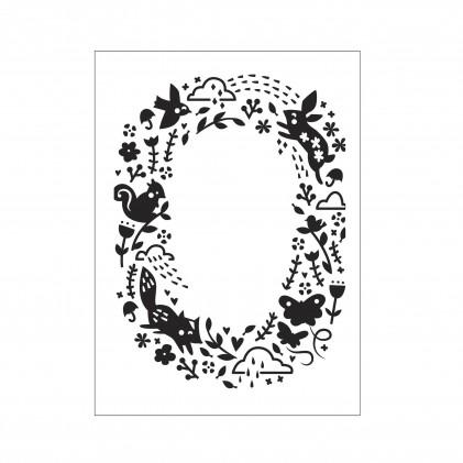 Darice Hintergrund-Prägeschablone - Animal Pattern Open Oval