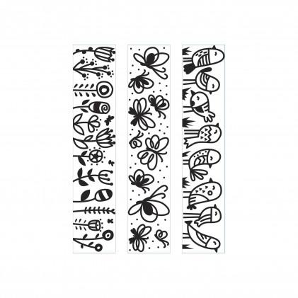 Darice Hintergrund-Prägeschablone - Rows Of Birds Butterflies Flowers