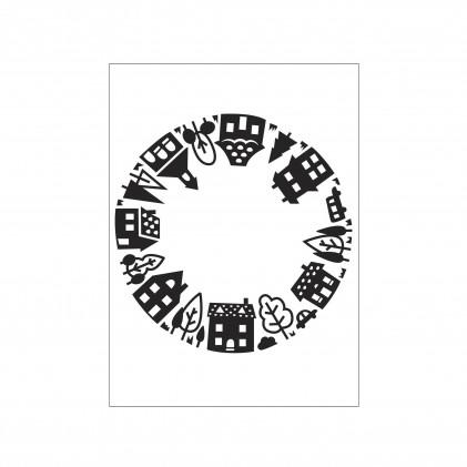 Darice Hintergrund-Prägeschablone - House Pattern Open Circle