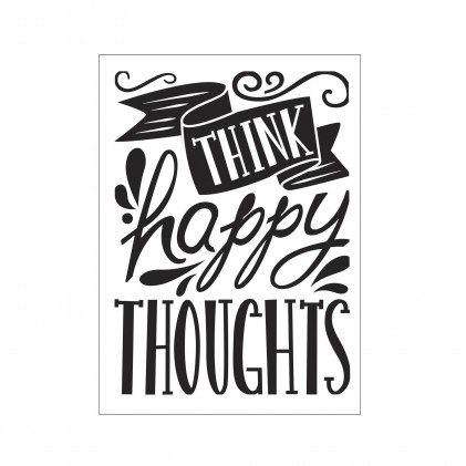 Darice Hintergrund-Prägeschablone - Think Happy Thoughts - 30% RABATT