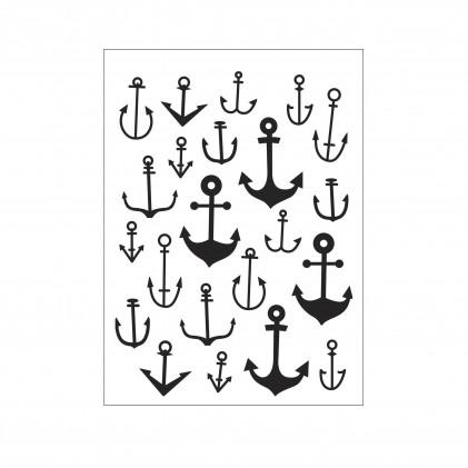 Darice Hintergrund-Prägeschablone - Scattered Anchors