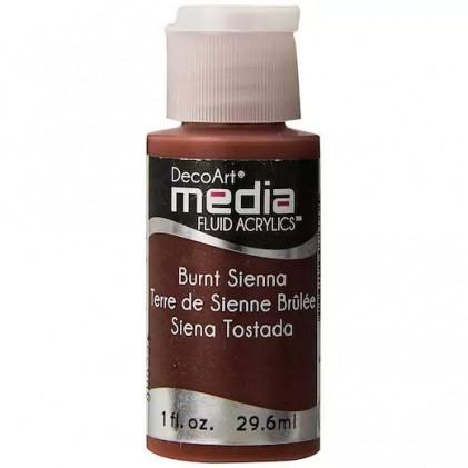 DecoArt Media Fluid Acrylics Paint Flüssige Acrylfarbe 1oz - Burnt Sienna