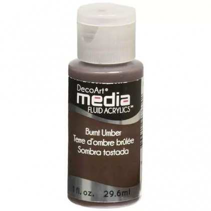 DecoArt Media Fluid Acrylics Paint Flüssige Acrylfarbe 1oz - Burnt Umber