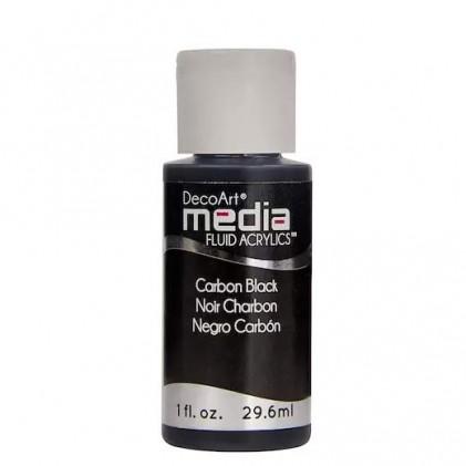 DecoArt Media Fluid Acrylics Paint Flüssige Acrylfarbe 1oz - Carbon Black - 25% RABATT