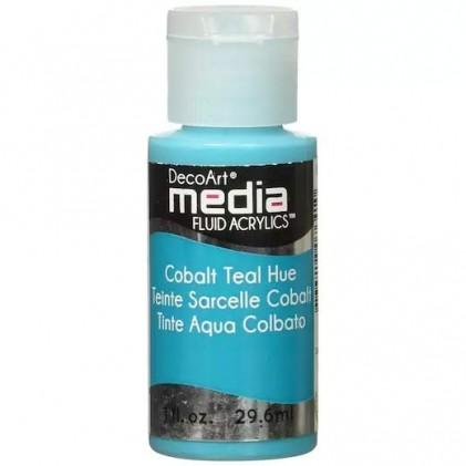 DecoArt Media Fluid Acrylics Paint Flüssige Acrylfarbe 1oz - Cobalt Teal Hue