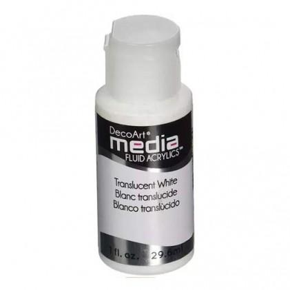 DecoArt Media Fluid Acrylics Paint Flüssige Acrylfarbe 1oz - Translucent White