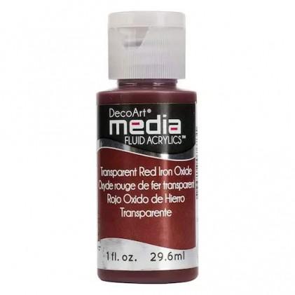 DecoArt Media Fluid Acrylics Paint Flüssige Acrylfarbe 1oz - Transparent Red Iron Oxide