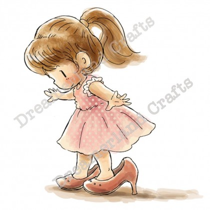 Dreamerland Crafts Cling Stamps - Big Shoes To Fill
