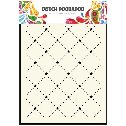 Dutch Doobadoo Mask Art Stencil A5 - Sternen-Muster