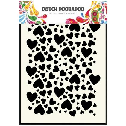 Dutch Doobadoo Mask Art Stencil A5 - Herzen