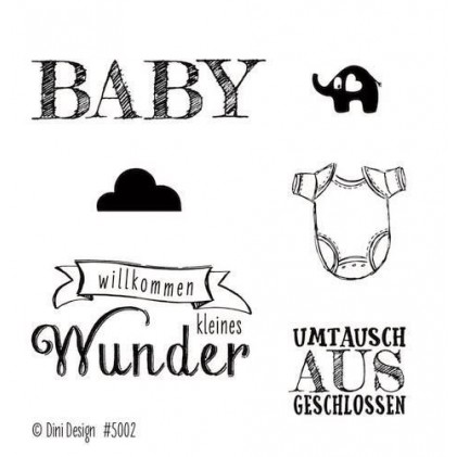 Dini Designs Mini Clear Stamps - Baby
