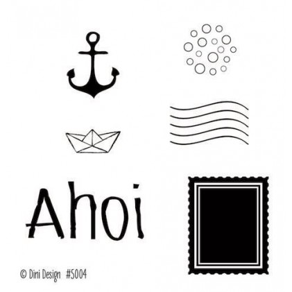 Dini Designs Mini Clear Stamps - Ahoi 2