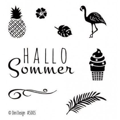Dini Designs Mini Clear Stamps - Sommer