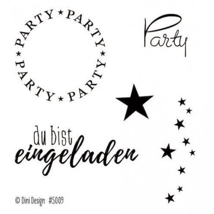 Dini Designs Mini Clear Stamps - Party