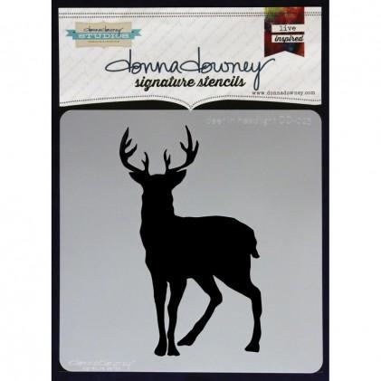 Donna Downey Stencil - Deer In Headlight