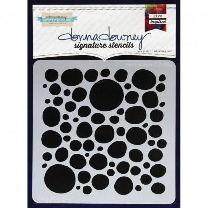 Donna Downey Stencil - Pebble Dots