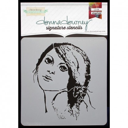 Donna Downey Stencil - Sketched Portrait