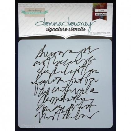 Donna Downey Stencil - Scribble Script