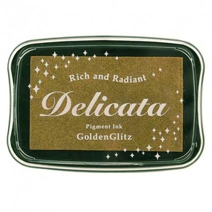 Delicata Metallic Pigment-Stempelkissen - Golden Glitz